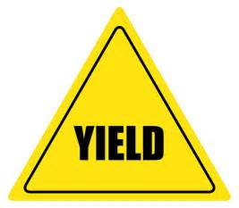 what color is a yield sign yield sign color clipart best