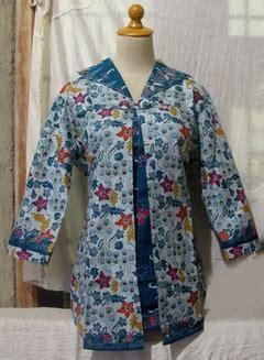 Big Size Bs 822 Baju Import blouse batik lengan panjang big size dari mirna batu cincin dan fashi di pakaian wanita blouses