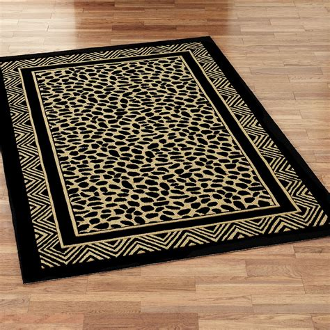 Area Rugs Animal Print Leopard Print Hooked Area Rugs