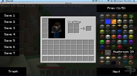 mods in minecraft mac how to install minecraft toomanyitems mod mac youtube
