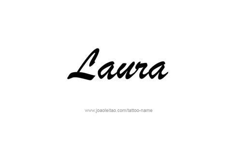 laura in cursive tattoo pictures to pin on pinterest