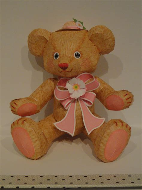 Teddy Papercraft - floral teddy papercraft ii by bslirabsl on deviantart