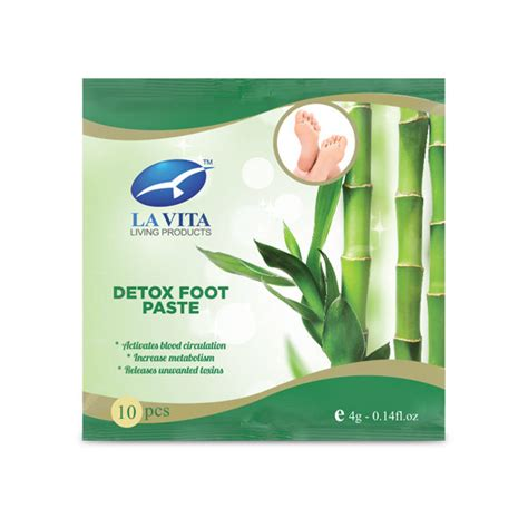 La Vita Detox Foot Paste detox foot paste the official website of la vita living