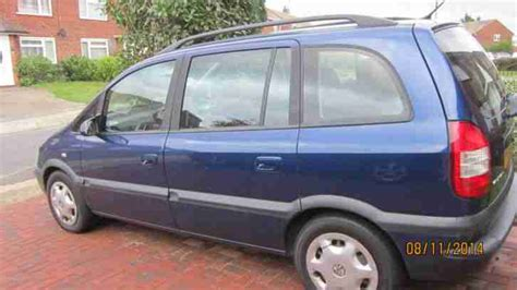 Zafir Navy vauxhall zafira navy blue 1 6 petrol 7 seater car for sale