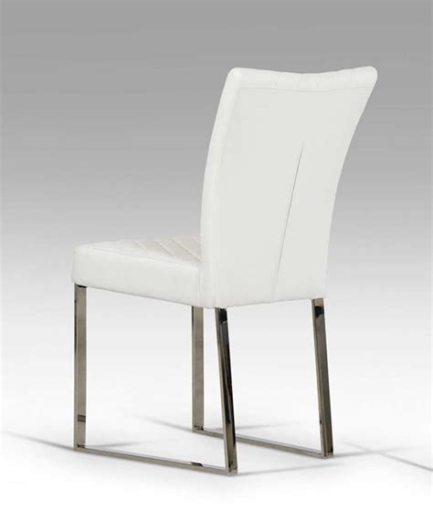 Modern Dining Chairs White White Eco Leather Chair Vg838 Modern Chairs