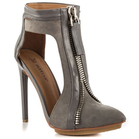 justfab dhalian grey shoes cishoes
