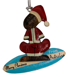 best australian design gifts christmas 2018 kangaroo santa surfboard ornament australia the gift australia the gift