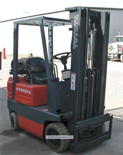 5fgc15 Toyota Forklift Toyota Model 5fgc15 1994 3000lbs Capacity Lpg Cushion