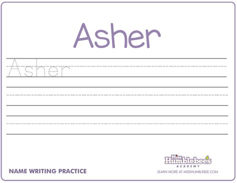 name writing practice teach your child to write their