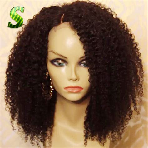 kinky curly human hair full lace front wigs aliexpress com buy 150 density kinky curly full lace wig
