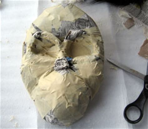 How To Make A Paper Mache Nose - how to make a paper mache mask ultimate paper mache