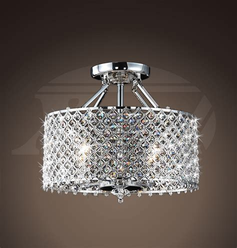 chrome crystal 4 light round ceiling chandelier helina chrome and crystal 4 light round ceiling flush