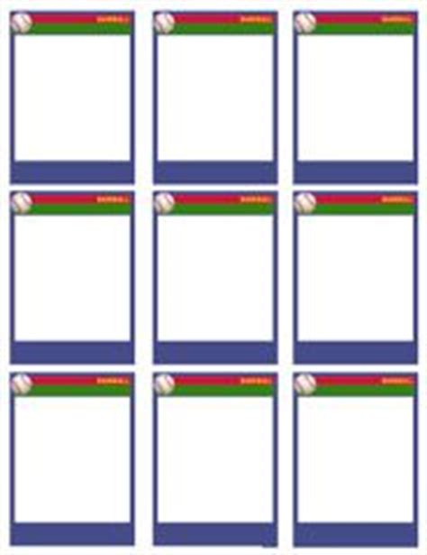 free sports card template baseball cards card templates and baseball on