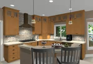 L Shaped Island In Kitchen L Shaped Kitchen With Island Ideas