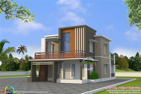 modern home design cost low cost double floor home plan kerala home design and