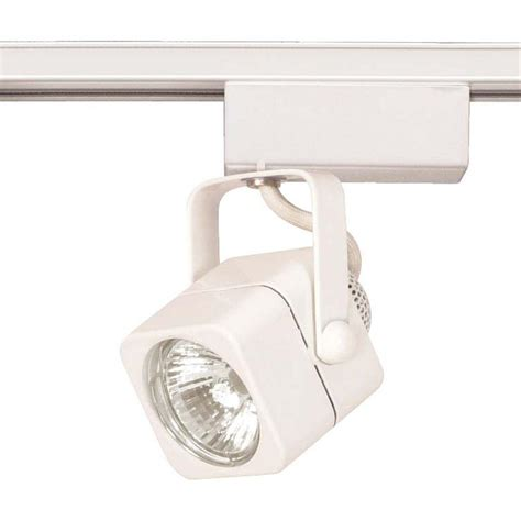12 Volt Track Lighting Fixtures Glomar 1 Light Mr16 12 Volt White Square Track Lighting Hd Th232 The Home Depot