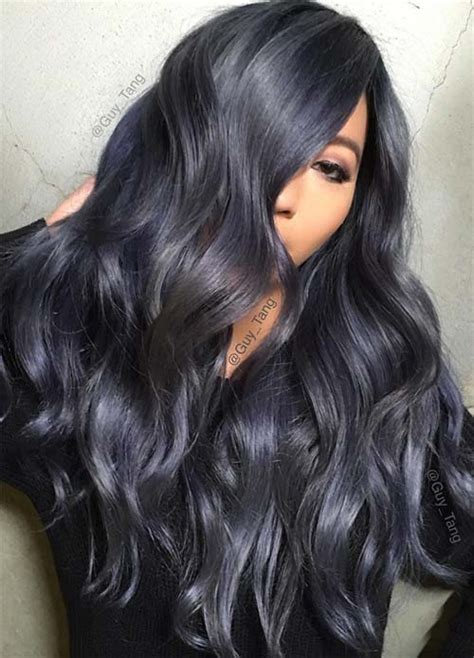 black and blue hair color 100 hair colors black brown
