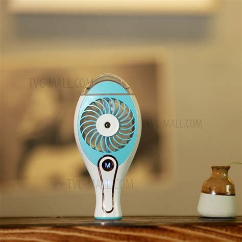 Portable Handheld Mini Replenishment Fan With Water Spray portable handheld mini replenishment fan cooling fan with water spray wt h18 blue tvc