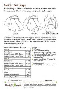 Seat Cover Sewing Pattern Zipitt Car Seat Canopy Sewing Pattern Fits All Baby Car