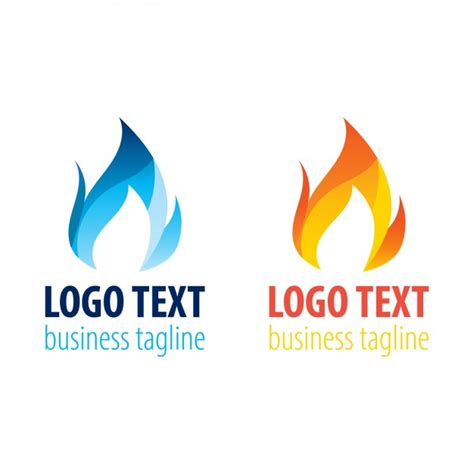 two flame logo templates vector free download