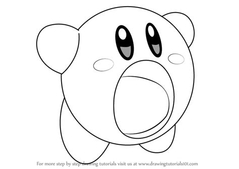 step by step how to draw yellow kirby from kirby