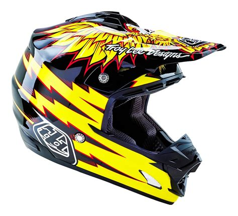 new motocross helmets troy lee designs new 2016 mx se 3 flight black yellow