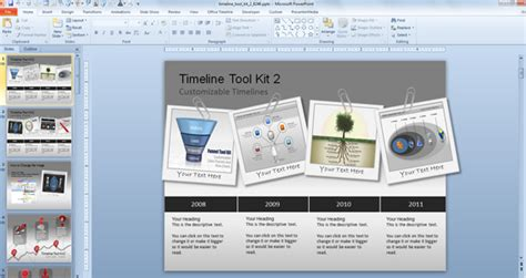 Awesome Timeline Charts Template For Powerpoint Presentations Awesome Powerpoint Templates Free