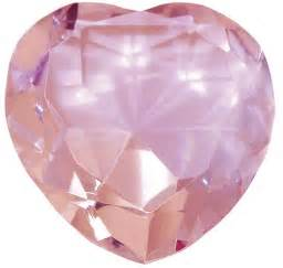 Feng Shui Bedroom Love 35mm Pink Crystal Heart Paperweight