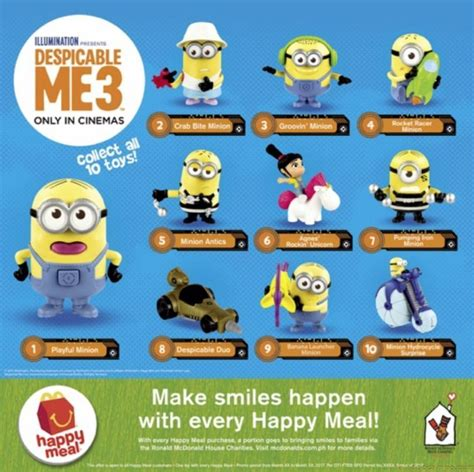 mcdonald s launches despicable me 3 happy meal toys and