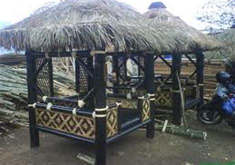 desain gazebo depan rumah desain rumah gazebo saung minimalis dari bambu dan kayu