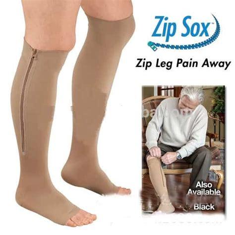 Zip Sox New Zip Up Compression Socks Kaos Kaki Terapi new compression zip sox socks leg reliever unisex