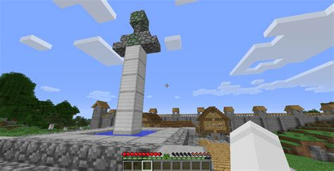 Really Cool Houses detail small sword statue minecraft