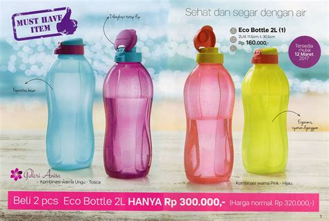 Tupperware Infused2 Go 1pcs Hijau eco bottle 2l tupperware botol minum tupperware