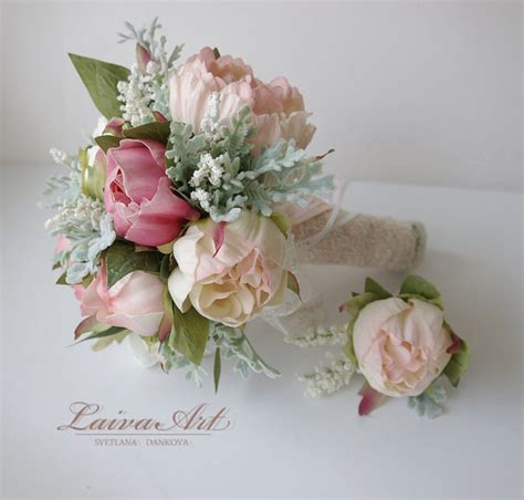 Small Bridesmaid Bouquets by Wedding Bouquet Bridal Bouquet Small Peony Bouquet Peony