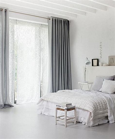 Gray Walls White Curtains | love curtains best loved grey curtains