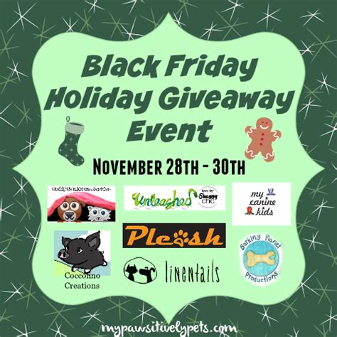 Black Friday Giveaway - pawsitively pets black friday holiday giveaway event preview pawsitively pets