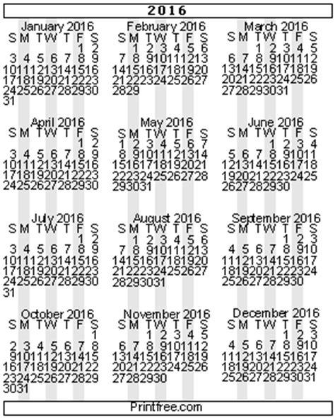 small printable year calendar 2015 small 2016 gif calendars