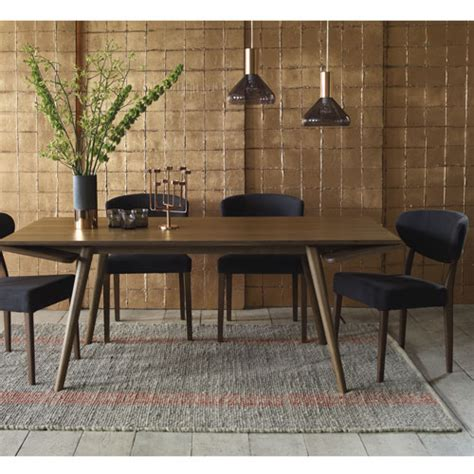 home trends design london loft dining table in walnut home trends design london loft dining table in walnut