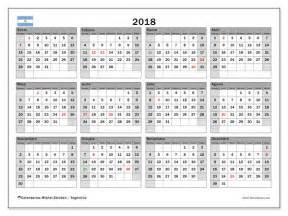 Calendã De 2018 Os Feriados Calendarios Para Imprimir 2018 Argentina