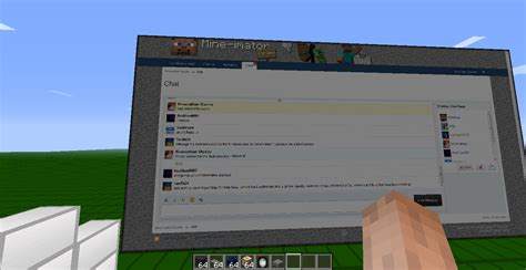 minecraft chat room the chat room works in minecraft d minecraft discussion mine imator forums