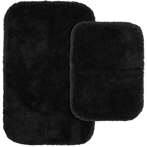 black bathroom rug garland rug skulls black 20 in x 30 in washable bathroom 2 rug set sb 2pc blk the home