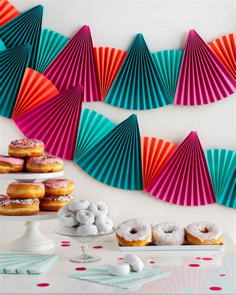 Paper Decoration Crafts - easy festive paper fan bunting that s for any