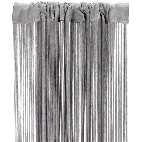 long curtain fringe fringe curtain silver grey dzd