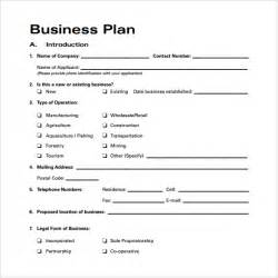 Template Of A Business Plan bussines plan template 22 free documents in