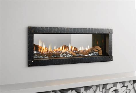 Gas Fireplace Shops Heat Glo Mezzo See Through Gas Fireplace Portland
