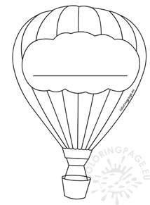 air balloon template air balloon decoration template coloring page