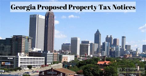City Of Atlanta Property Tax Records Proposed Property Tax Notices Are Solutions