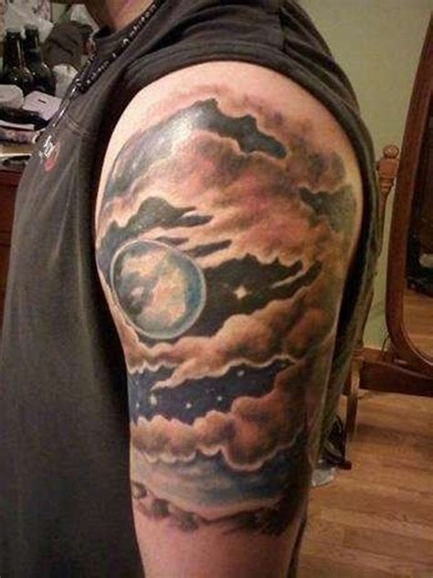 shading tattoo 21 awesome cloud shading tattoos