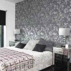 bedroom with patterned wallpaper bedroom designs glass