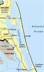 fishing maps showing the currituck sound
